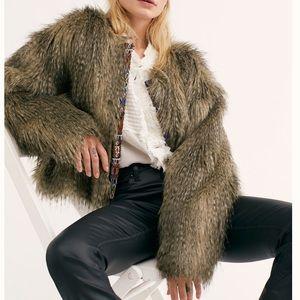 NEW Free People Unwritten Fur Jacket